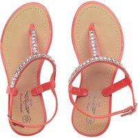 Board Angels Girls Diamante Trim Sandals Coral