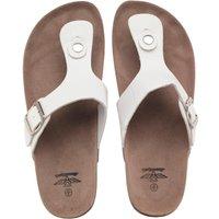 Board Angels Womens Toe Post Sandals White