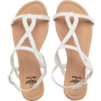 Board Angels Womens Strappy Sandals White