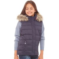 Board Angels Girls Padded Hooded Gilet Navy