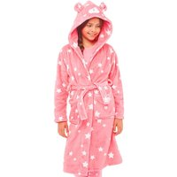 Board Angels Girls Novelty Hooded Robe Pink/White