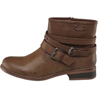 Board Angels Womens Short Boots With Strap Detail Brown