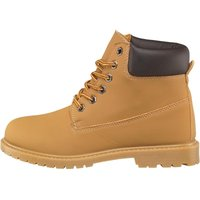Board Angels Womens Cleat Sole Lace Up Boots Camel