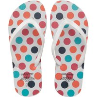 Board Angels Womens Flip Flops White/Multi