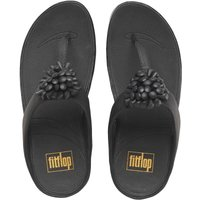 FitFlop Womens Blossom Thong Sandals Black