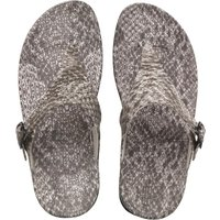 FitFlop Womens Superjelly Snake Sandals Black/White