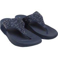 FitFlop Womens Lulu Popstud Toe Post Sandals Midnight Navy