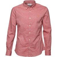 Farah Vintage Mens Steen Slim Fit Long Sleeve Shirt Light Currant