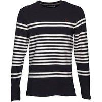Farah Vintage Mens Branson Stripe T-Shirt True Navy