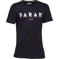 Farah Vintage Mens Haven Print T-Shirt True Navy