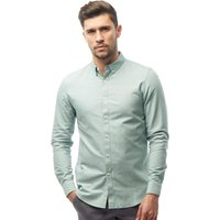 Farah Vintage Mens Brewer Slim Fit Long Sleeve Shirt Marine