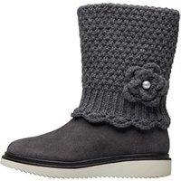 GEOX Girls Thymar Boots Dark Grey