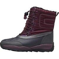 GEOX Junior Girls Orizont ABX Ankle Boots Dark Burgundy