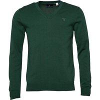 Gant Mens Lightweight Cotton V-Neck Jumper Green