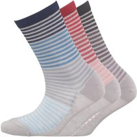 Green Treat Womens Three Pack Socks Multi