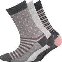 Green Treat Womens Three Pack Socks Multi