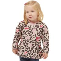 Sugar Pink Girls Leopard Peplum Top Leopard