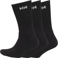 Helly Hansen Mens Three Pack Crew Socks Black