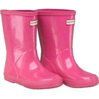 Hunter Infant Girls Original First Gloss Wellington Boots Fuchsia