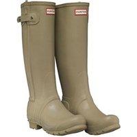 Hunter Original Womens Slim Textured Leg Wellington Boots Sage