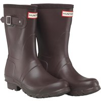 Hunter Original Womens Short Wellington Boots Bitter Chocolate