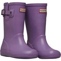 Hunter Girls Flat Sole Wellington Boots Bright Lavender