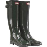 Hunter Original Womens Refined Gloss Wellington Boots Dark Olive