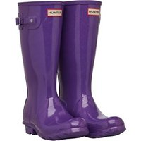 Hunter Original Junior Girls Starcloud Wellington Boots Acid Purple