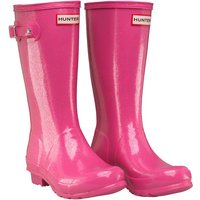 Hunter Original Girls Glitter Finish Wellington Boots Fuchsia