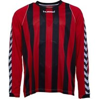 Hummel Mens Bee Authentic Striped Long Sleeve Match Jersey Black/True Red