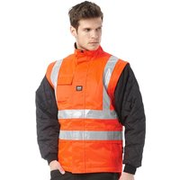 Helly Hansen Workwear Mens Potsdam Lining Jacket With Hi Vis Strips Red/Charcoal