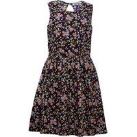 Ribbon Girls Printed Sleeveless Dress Navy Multi