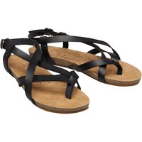 Blowfish Womens Golden Strapped Sandals Black Pisa