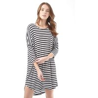 Jacqueline De Yong Womens Spirit 3/4 Stripe Dress Cloud Dancer 1
