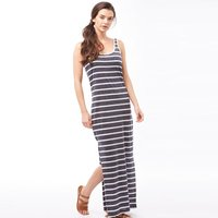 Jacqueline De Yong Womens Zada Stripe Long Dress Mood Indigo