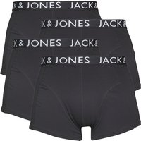 JACK AND JONES Mens Black Four Pack Trunks Black