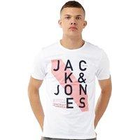 JACK AND JONES Mens JJOR Hatti T-Shirt White