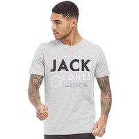 JACK AND JONES Mens Aok T-Shirt Light Grey Marl