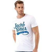 JACK AND JONES Mens Beyif T-Shirt White