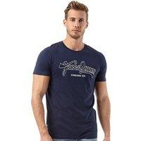 JACK AND JONES Mens Classic T-Shirt D-Blue