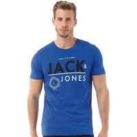 JACK AND JONES Mens AOK T-Shirt Turkish Sea