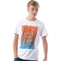 JACK AND JONES Mens Fade T-Shirt White