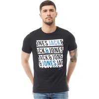 JACK AND JONES Mens Booster T-Shirt Black