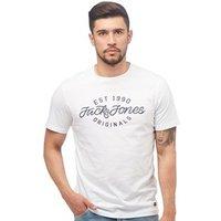 JACK AND JONES Mens Finish T-Shirt White