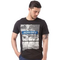 JACK AND JONES Mens Mango T-Shirt Black