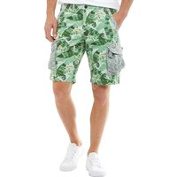 JACK AND JONES Mens Preston Cargo Shorts Grey Dawn