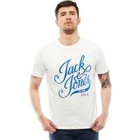 JACK AND JONES Mens Blog T-Shirt Cloud Dancer