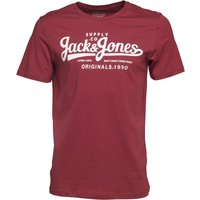 JACK AND JONES Originals Mens Hills T-Shirt Cordovan