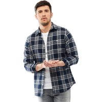 JACK AND JONES Mens Christopher Long Sleeve Shirt Total Eclipse