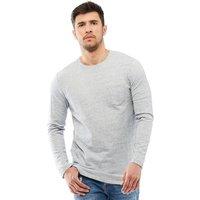 JACK AND JONES Mens Ozil T-Shirt Light Grey Melange